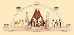 Candle Arch - Nativity Scene by MÃŒller Kleinkunst German Christmas, Christmas 2019, Christmas Crafts, Christmas Decorations, Holy Night, Christen, Nativity, Happy Birthday, Candles