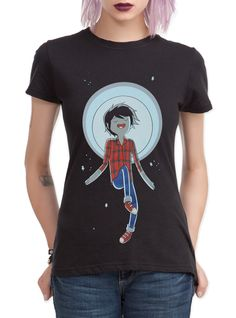 Shop for the latest anime tees, pop culture merchandise, gifts & collectibles at Hot Topic! From anime tees to tees, figures & more, Hot Topic is your one-stop-shop for must-have music & pop culture-inspired merch. Alternative Rock, Galaxy T Shirt, Marshall Lee, Geek Chic, Hot Topic, Adventure Time, Lady In Red, Cute Outfits, T Shirts For Women