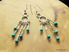 Turquoise Fancy Dancer Silver Chandelier Native by SoulfulStuff, $15.00