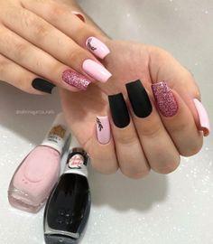 """870 Me gusta, 3 comentarios - Unha decoradas (@unhaadecoradas) en Instagram: """"ASSISTA O STORES🛑 Qual ocasião você usaria essas unhas? Siga @unhaadecoradas . Siga @unhaa.feitas…"""" Shellac Nails, Nail Manicure, Toe Nails, Nail Polish, Long Square Acrylic Nails, Simple Acrylic Nails, Stylish Nails, Trendy Nails, Nail Picking"""