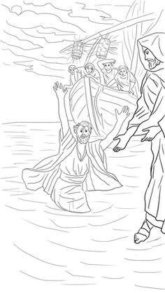 Jezus loopt op het water doolhof