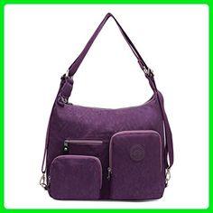 Women Shoulder Bags Handbag Travel Bag Messenger Nylon Satchel Bags (Purple) - Top handle bags (*Amazon Partner-Link)