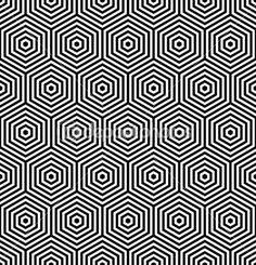 Hexagons seamless texture. Geometric pattern. Vector art. — Stockillustratie #11697607