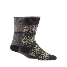 Mantaray Pack of two grey and dark grey snowflake boot socks- | Debenhams