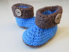 Gorgeous Blue Boot, baby booties