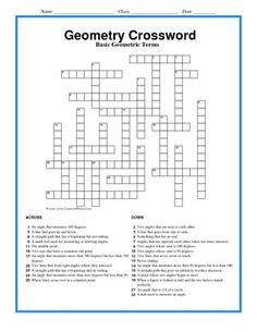 8th grade math vocabulary crossword staar test math and activities this puzzle is designed so that the student will practice and use geometric vocabulary it malvernweather Gallery