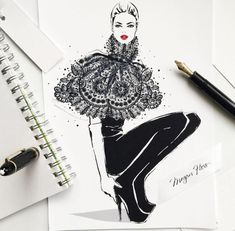 Fashion drawings by Megan Hess Megan Hess Illustration, Illustration Sketches, Kerrie Hess, Lace Print, Sketch Painting, Fashion Sketches, Fashion Illustrations, Fashion Drawings, Prints