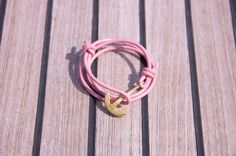dstnct leather anchor - rose