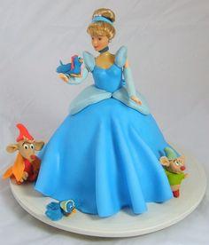 Cinderella fondant cake PRINCESS Fondant Cake Pinterest