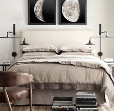 1896 Moon Photogravure Prints Collection, restoration hardware art for master or study