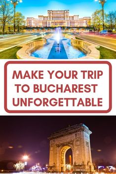 """A vibrant city, full of amazing landmarks and exciting things to do, Bucharest is one of the most beautiful European capitals. Its museums host various collections and the old city centre is a """"must see"""" place for anyone visiting the capital of Romania. Discover the tourist attraction that should be on every traveller's Bucharest sightseeing itinerary. Romania Tours, Capital Of Romania, Peles Castle, Visit Romania, Mountain Resort, Day Tours, Cool Places To Visit, The Good Place, Vacation"""