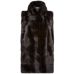 Harrods of London Mink Gilet with Stand Collar ($5,720) ❤ liked on Polyvore featuring outerwear, vests, mink fur vest and mink vest