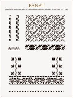 handmade by alina: Ce trebuie sa stim cand coasem o ie Folk Embroidery, Embroidery Patterns, Cross Stitch Patterns, Knitting Patterns, Cross Stitching, Beading Patterns, Blackwork, Needlework, Kitsch