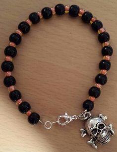 """Halloween Skull Bracelet  6 1/2"""" $15"""