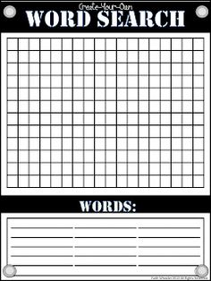 Nifty image regarding blank word search printable