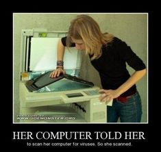 OMG! Her computer told her!