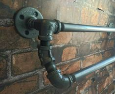 Industrial Pipe Double Towel Bar by WutNotz on Etsy