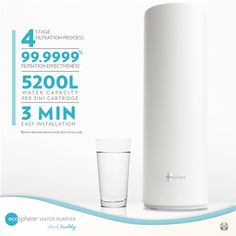 This is a complete 4-Stage filtration that effectively filters out sediments, chemicals, organic contaminants, heavy metals, bacteria and viruses.   It boasts of a statistic number of providing 99.9999% clean safe water.   High water capacity delivering 5200 liters of water per filter cartridge.   Easy Installation intended for the modern home. Safe Drinking Water, Water Safety, Water Purification, Healthy Drinks, Metals, Heavy Metal, Filters, Stage, Knowledge