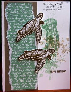 Stampin' Up! From Land to Sea; click to go to my blog for detailed instructions.