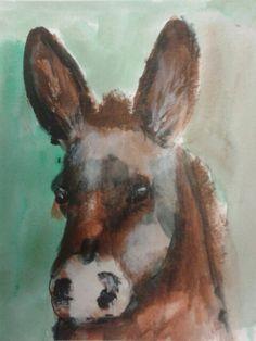 donkey in acryllic