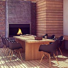 Mesa de jantar em madeira maciça - para área externa - Madeirado - Móveis de madeira maciça. mmm