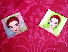 A personal favourite from my Etsy shop https://www.etsy.com/uk/listing/271284968/frida-kahlo-art-miniature-original