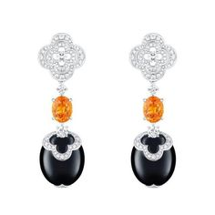Louis Vuitton Blossom High Jewellery collection: Onyx, Diamond and Fire Opals.