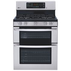 "Final Clearance 							LG 29.9"" 6.1 Cu. Ft. Free-Standing Self-Clean Gas Convection Range (LDG3036ST) - Stainless Steel"
