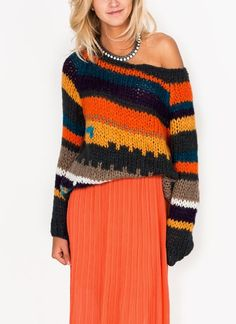 striped knit sweater from Go Jane