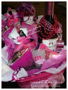Custom #Vegas #GirlsWeekend Gift Baskets noveldesignsllc.com or custom@noveldesignsllc.com
