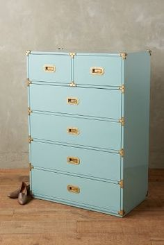 Anthropologie Lacquered Wellington Six Drawer Dresser #anthrofave