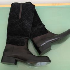 HOST PICK Ralph Lauren Dark Brown boots Quilted suede with soft leather. Barely worn. Great boots!  Open to offers! Host Pick 12/17/13 Ralph Lauren Shoes