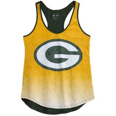 Green Bay Packers Women's Cameo Burnout Tank Top at the Packers Pro Shop http://www.packersproshop.com/sku/5801026248/