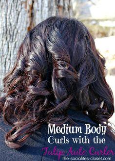 Getting Medium Body Curls with the Tulip Auto Curler