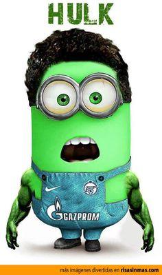 Minion como Hulk