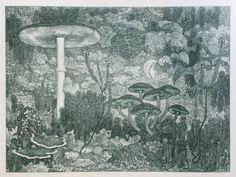 Edzard Koning - litho October, gedateerd 1898, 26 x 35 cm. Hetzelfde jaar als waarin ook de door Koning geïllustreerde uitgave van De Kleine Johannes verscheen. De litho is qua sfeer en in de fijne detaillering vergelijkbaar met de boekillustraties.