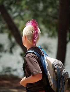 11-Year-Old 's Pink Mohawk for Mom With Breast Cancer Almost Gets Him Banned from Basketball