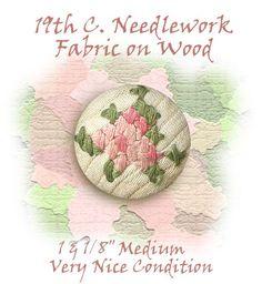 Image Copyright RC Larner ~ Antique Needlework Fabric Button ~ R C Larner Buttons at eBay & Etsy          http://stores.ebay.com/RC-LARNER-BUTTONS