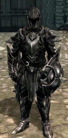 Skyrim - Ebony Armour #skyrim #dawnguard #hearthfire