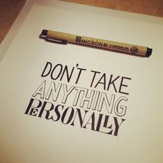 Hand Lettering of Four Agreements by Sean McCabe, via Behance