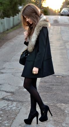 faux fur collar to add to existing coat...btw, love the shoes