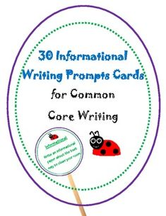 informational writing prompts- makes cute writing prompt sticks