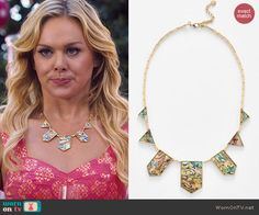 Shelby's necklace on Hart of Dixie.  Outfit Details: http://wornontv.net/46253/ #HartofDixie