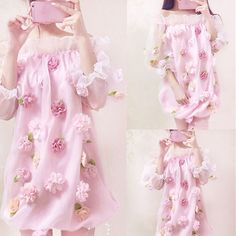 "Sweet flowers organza strapless dress Coupon code ""cutekawaii"" for 10% off"