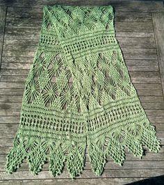 Single-skein crochet shawl - the process of reading crochet charts free tutorial
