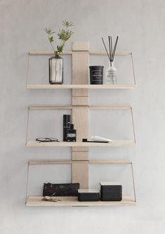Andersen Furniture Wood Wall Hylde cm, Eg Wood Wall Shelf, Wood Shelves, Floating Shelves, Small Furniture, Wood Furniture, Regal Design, Nordic Home, Solid Oak, Decoration