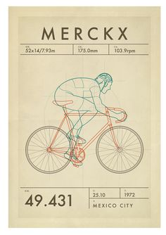 Merckx The greatest rider of them all and at the very peak of his powers, . Velo Vintage, Vintage Cycles, Cycling Art, Cycling Bikes, Cycling Quotes, Cycling Jerseys, Bicicletas Raleigh, Bicycle Illustration, Bike Poster