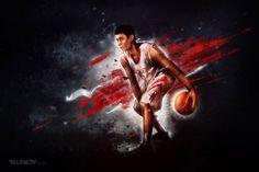Jeremy Lin Artwork by Maciej Hajnrich