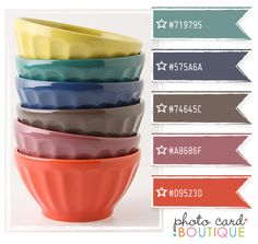 COOL COLORS PALETTE · 3.7.2012  {love me some bowls too}