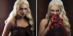 Khaleesi Before And After Becoming The Dothraki Queen